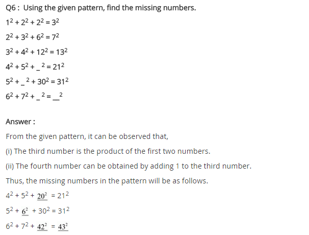 NCERT Solutions for Class 8 Maths Chapter 6 Squares and Square Roots Ex 6.1 Q6