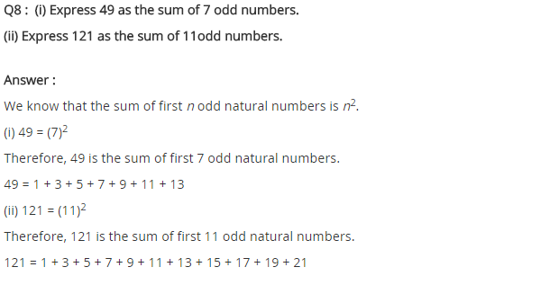 NCERT Solutions for Class 8 Maths Chapter 6 Squares and Square Roots Ex 6.1 Q8