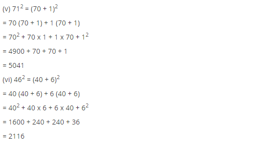 NCERT Solutions for Class 8 Maths Chapter 6 Squares and Square Roots Ex 6.2 Q1.1