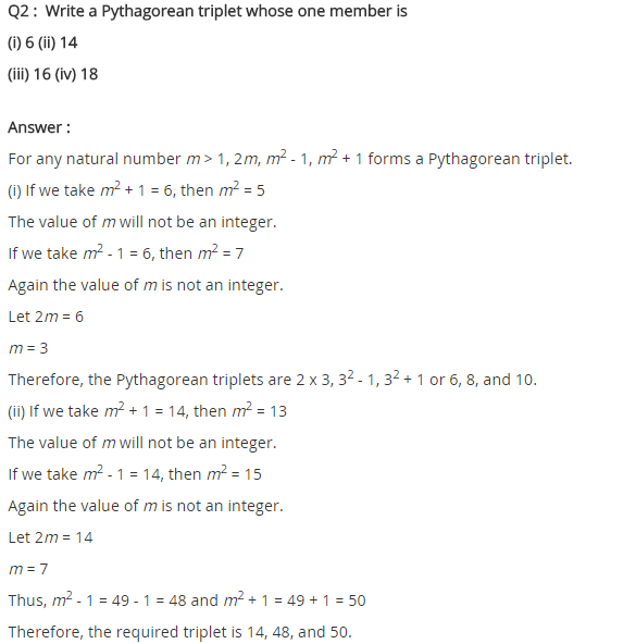 NCERT Solutions for Class 8 Maths Chapter 6 Squares and Square Roots Ex 6.2 Q2