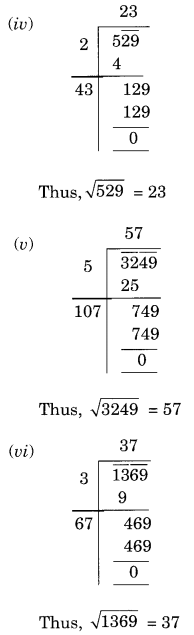 NCERT Solutions for Class 8 Maths Chapter 6 Squares and Square Roots Ex 6.4 Q1.1