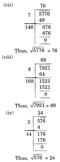 NCERT Solutions for Class 8 Maths Chapter 6 Squares and Square Roots Ex 6.4 Q1.2