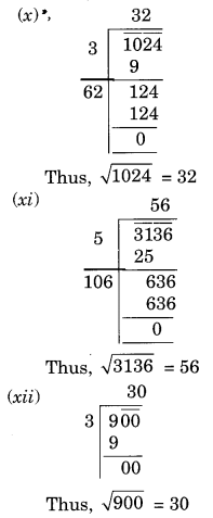 NCERT Solutions for Class 8 Maths Chapter 6 Squares and Square Roots Ex 6.4 Q1.3