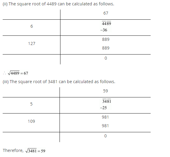 NCERT Solutions for Class 8 Maths Chapter 6 Squares and Square Roots Ex 6.4 q-1.1