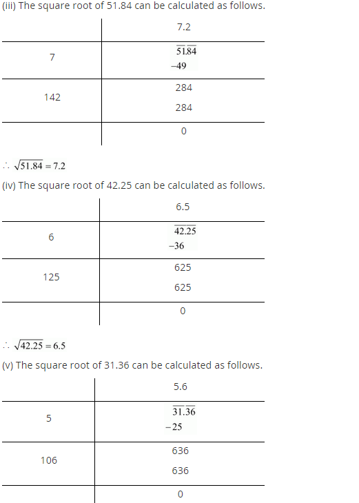 NCERT Solutions for Class 8 Maths Chapter 6 Squares and Square Roots Ex 6.4 q-3.1