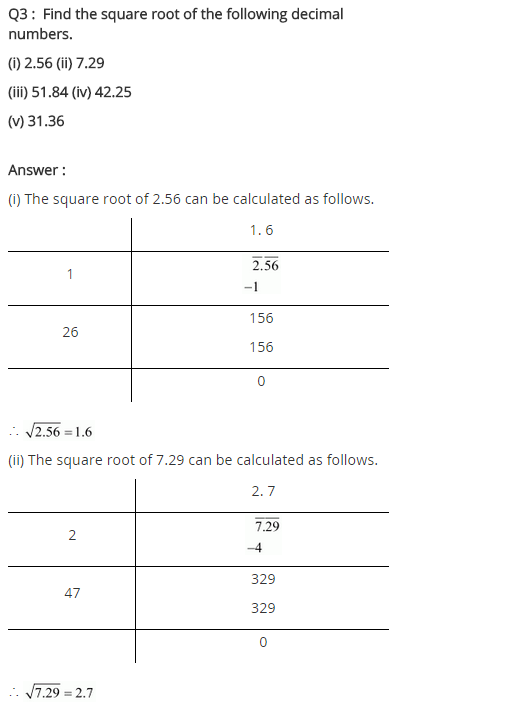 NCERT Solutions for Class 8 Maths Chapter 6 Squares and Square Roots Ex 6.4 q-3
