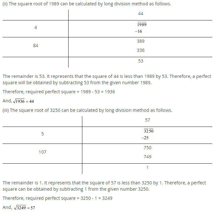 NCERT Solutions for Class 8 Maths Chapter 6 Squares and Square Roots Ex 6.4 q-4.1