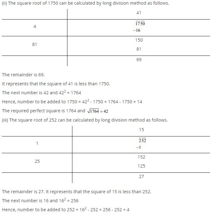 NCERT Solutions for Class 8 Maths Chapter 6 Squares and Square Roots Ex 6.4 q-5.1