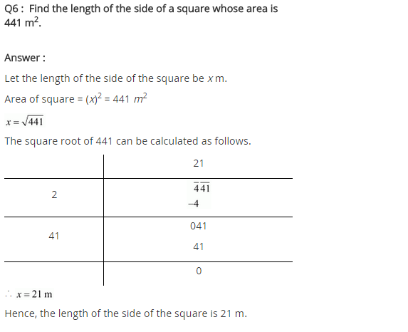 NCERT Solutions for Class 8 Maths Chapter 6 Squares and Square Roots Ex 6.4 q-6