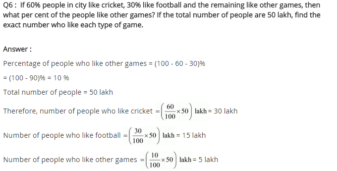 NCERT Solutions for Class 8 Maths Chapter 8 Comparing Quantities Ex 8.1 q-6