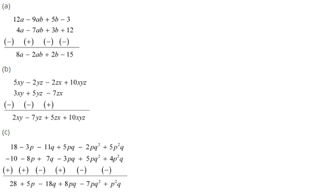 NCERT Solutions for Class 8 Maths Chapter 9 Algebraic Expressions and Identities Ex 9.1 q-4