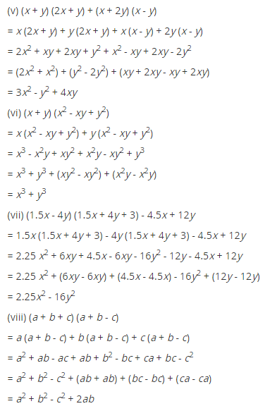 NCERT Solutions for Class 8 Maths Chapter 9 Algebraic Expressions and Identities Ex 9.4 q-3.1