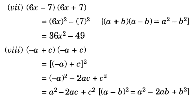 NCERT Solutions for Class 8 Maths Chapter 9 Algebraic Expressions and Identities Ex 9.5 Q1.2