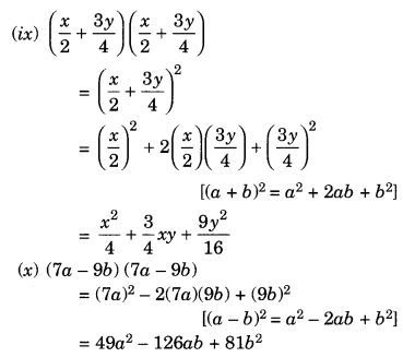 NCERT Solutions for Class 8 Maths Chapter 9 Algebraic Expressions and Identities Ex 9.5 Q1.3