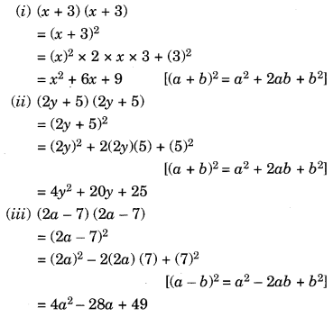 NCERT Solutions for Class 8 Maths Chapter 9 Algebraic Expressions and Identities Ex 9.5 Q1