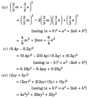 NCERT Solutions for Class 8 Maths Chapter 9 Algebraic Expressions and Identities Ex 9.5 Q3.1