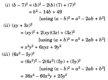 NCERT Solutions for Class 8 Maths Chapter 9 Algebraic Expressions and Identities Ex 9.5 Q3