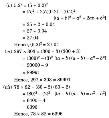 NCERT Solutions for Class 8 Maths Chapter 9 Algebraic Expressions and Identities Ex 9.5 Q6.1