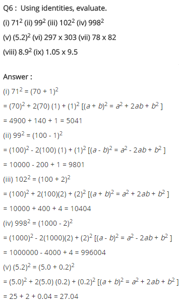 NCERT Solutions for Class 8 Maths Chapter 9 Algebraic Expressions and Identities Ex 9.5 q-6