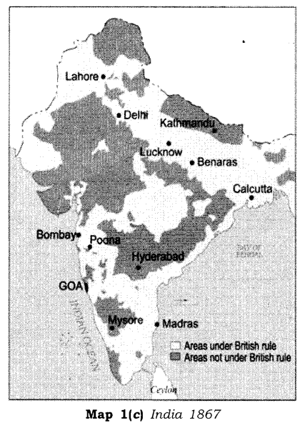 NCERT Solutions for Class 8 Social Science History Chapter 2 From Trade to Territory Map Skills Q1.2