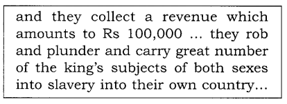 NCERT Solutions for Class 8 Social Science History Chapter 2 From Trade to Territory Source Based Questions Q1.1