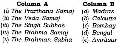 NCERT Solutions for Class 8 Social Science History Chapter 9 Women, Caste and Reform Exercise Questions Q1
