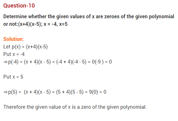 Polynomials Class 10 Extra Questions Maths Chapter 2 Q10