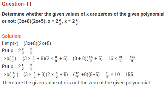 Polynomials Class 10 Extra Questions Maths Chapter 2 Q11
