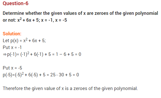 Polynomials Class 10 Extra Questions Maths Chapter 2 Q6