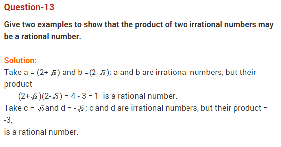 Real Numbers Class 10 Extra Questions Maths Chapter 1 Q13