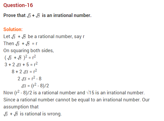 Real Numbers Class 10 Extra Questions Maths Chapter 1 Q16