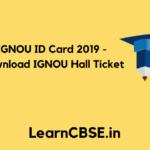 IGNOU ID Card 2019