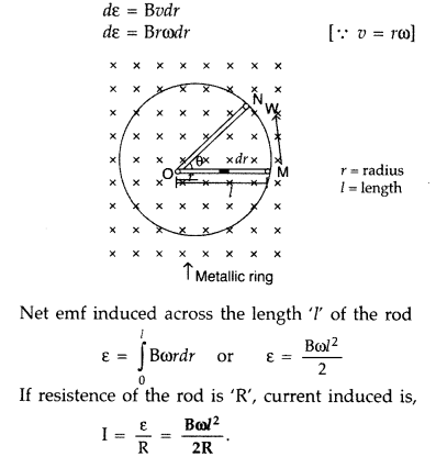 Important Questions for Class 12 Physics Chapter 6 Electromagnetic Induction Class 12 Important Questions 37