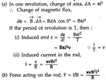 Important Questions for Class 12 Physics Chapter 6 Electromagnetic Induction Class 12 Important Questions 80