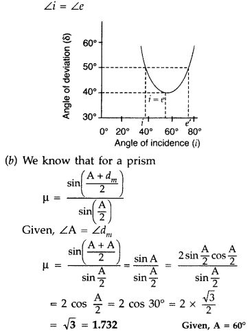 Important Questions for Class 12 Physics Chapter 9 Ray Optics and Optical Instruments Class 12 Important Questions 190