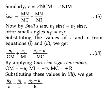 Important Questions for Class 12 Physics Chapter 9 Ray Optics and Optical Instruments Class 12 Important Questions 199