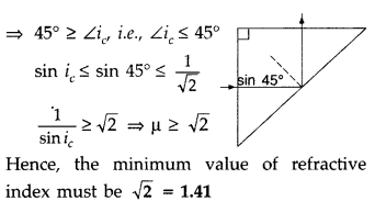 Important Questions for Class 12 Physics Chapter 9 Ray Optics and Optical Instruments Class 12 Important Questions 203