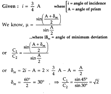 Important Questions for Class 12 Physics Chapter 9 Ray Optics and Optical Instruments Class 12 Important Questions 23