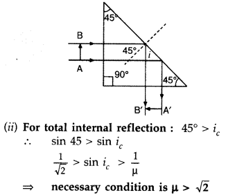 Important Questions for Class 12 Physics Chapter 9 Ray Optics and Optical Instruments Class 12 Important Questions 69