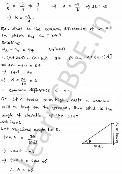 Solved CBSE Sample Papers for Class 10 Maths Set 2 2