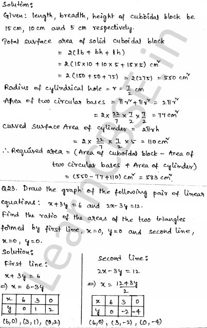 Solved CBSE Sample Papers for Class 10 Maths Set 5 1.19