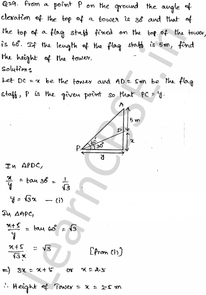 Solved CBSE Sample Papers for Class 10 Maths Set 5 1.28
