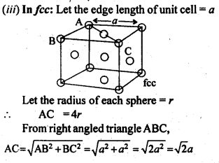 NCERT Solutions For Class 12 Chemistry Chapter 1 The Solid State Exercises Q10.1