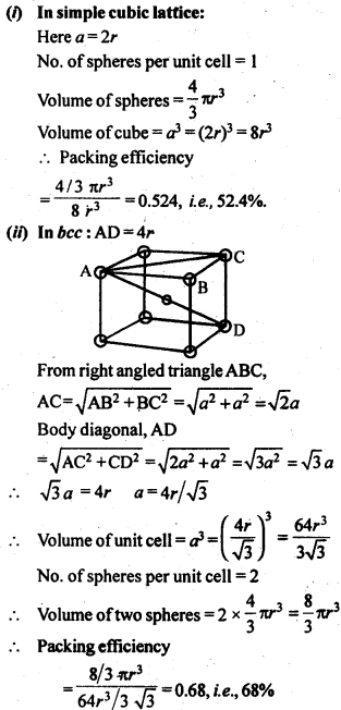 NCERT Solutions For Class 12 Chemistry Chapter 1 The Solid State Exercises Q10