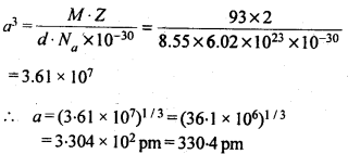 NCERT Solutions For Class 12 Chemistry Chapter 1 The Solid State Exercises Q13