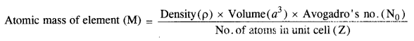 NCERT Solutions For Class 12 Chemistry Chapter 1 The Solid State Exercises Q5