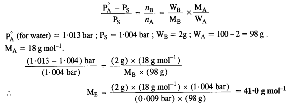 NCERT Solutions For Class 12 Chemistry Chapter 2 Solutions Exercises Q15