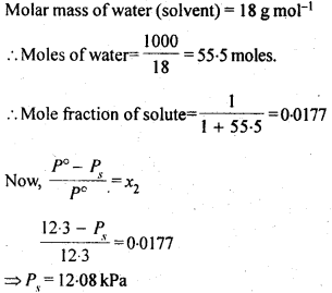 NCERT Solutions For Class 12 Chemistry Chapter 2 Solutions Exercises Q17