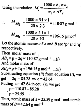 NCERT Solutions For Class 12 Chemistry Chapter 2 Solutions Exercises Q21