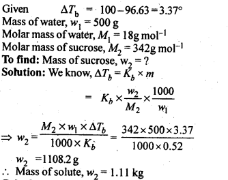 NCERT Solutions For Class 12 Chemistry Chapter 2 Solutions Textbook Questions Q10